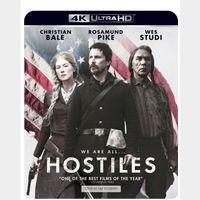 HOSTILES (2017 CHRISTIAN BALE) (4K ULTRA HD UHD DIGITAL CODE) ITUNES INSTANT DELIVERY