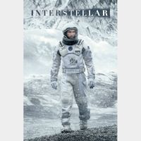 INTERSTELLAR (2014 CHRISTOPHER NOLAN) (HD DIGITAL CODE) VUDU, FANDANGONOW INSTANT DELIVERY
