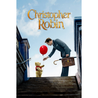 CHRISTOPHER ROBIN (2018 LIVE ACTION WINNIE THE POOH) (HD DIGITAL CODE) VUDU, ITUNES, MOVIESANYWHERE INSTANT DELIVERY