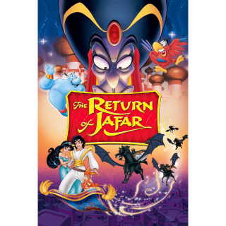 ALADDIN 2 THE RETURN OF JAFAR (HD DIGITAL CODE) VUDU, ITUNES, MOVIESANYWHERE INSTANT DELIVERY