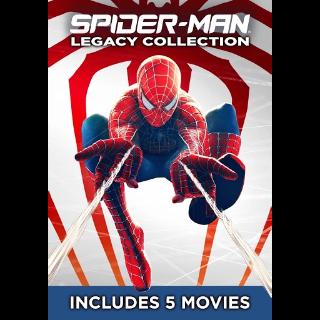 SPIDER-MAN LEGACY COLLECTION (SPIDER-MAN 1,2,3, AMAZING 1,2) HD DIGITAL CODE (VUDU, MOVIESANYWHERE)