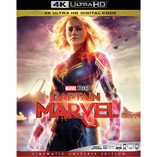 CAPTAIN MARVEL (2019) (4K UHD DIGITAL CODE) VUDU, MOVIESANYWHERE INSTANT DELIVERY