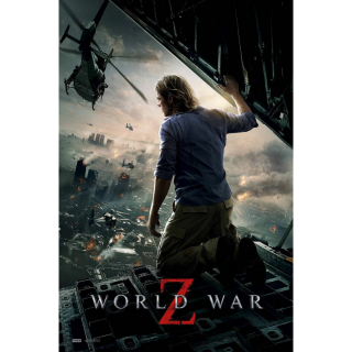 WORLD WAR Z (2013 BRAD PITT) (HD DIGITAL CODE) APPLE TV ITUNES INSTANT DELIVERY