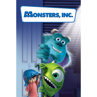 DISNEY PIXAR MONSTERS, INC. (HD DIGITAL CODE) VUDU, ITUNES, MOVIESANYWHERE INSTANT DELIVERY
