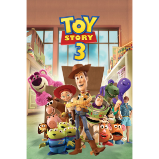 DISNEY PIXAR TOY STORY 3 (HD DIGITAL CODE) VUDU, ITUNES, MOVIESANYWHERE INSTANT DELIVERY
