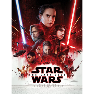 STAR WARS  VIII 8 THE LAST JEDI (2017) (HD DIGITAL CODE) VUDU, ITUNES, MOVIESANYWHERE INSTANT DELIVERY