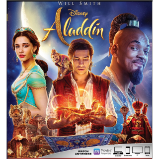 ALADDIN (2019 LIVE ACTION) (HD DIGITAL CODE) GOOGLE PLAY INSTANT DELIVERY