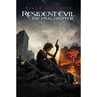 RESIDENT EVIL THE FINAL CHAPTER (HD DIGITAL CODE) VUDU, MOVIESANYWHERE INSTANT DELIVERY