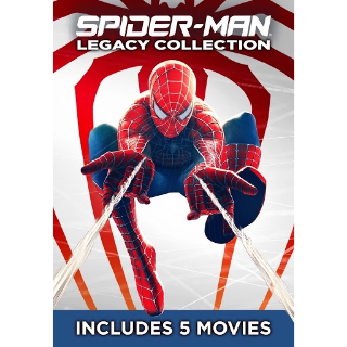 SPIDER-MAN LEGACY 5 MOVIE COLLECTION (SPIDER-MAN 1,2,3, AMAZING 1,2) HD DIGITAL CODE (VUDU, MOVIESANYWHERE)