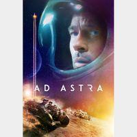 AD ASTRA (2019 BRAD PITT) (HD DIGITAL CODE) VUDU, MOVIESANYWHERE INSTANT DELIVERY