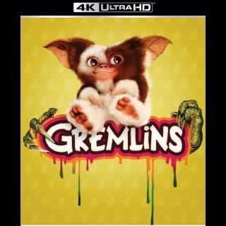 GREMLINS 1 (1984) (4K ULTRA HD UHD DIGITAL CODE) VUDU, MOVIESANYWHERE INSTANT DELIVERY