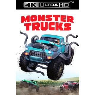 MONSTER TRUCKS (2016) (4K ULTRA HD UHD DIGITAL CODE) ITUNES ONLY INSTANT DELIVERY