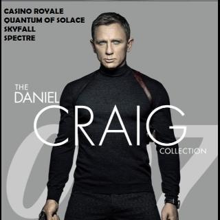 007 JAMES BOND DANIEL CRAIG 4 FILM COLLECTION (CASINO, QUANTUM, SKYFALL, SPECTRE) (HD DIGITAL CODE) VUDU INSTANT DELIVERY