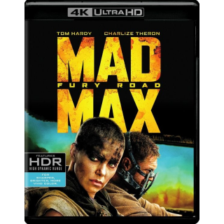 MAD MAX FURY ROAD (4K UHD DIGITAL CODE) VUDU, MOVIESANYWHERE INSTANT DELIVERY