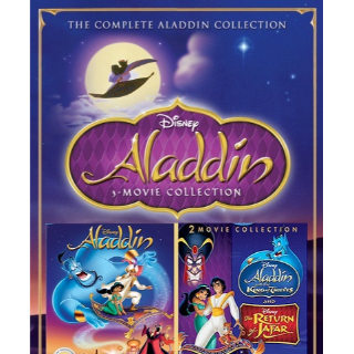 DISNEY ALADDIN TRILOGY 3 MOVIE (1992, RETURN OF JAFAR, KING OF THIEVES (HD DIGITAL CODE) GOOGLE PLAY INSTANT DELIVERY