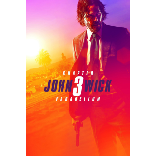 JOHN WICK 3 CHAPTER 3 PARABELLUM (HD DIGITAL CODE) ITUNES, VUDU, GOOGLE PLAY INSTANT DELIVERY