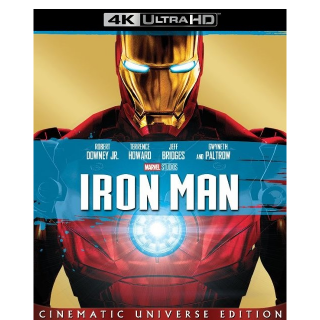 MARVEL STUDIOS IRON MAN 1 (4K UHD DIGITAL CODE) VUDU, MOVIESANYWHERE INSTANT DELIVERY