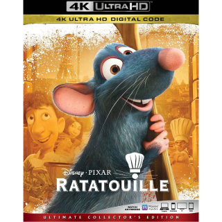 DISNEY PIXAR RATATOUILLE (4K UHD DIGITAL CODE) VUDU, MOVIESANYWHERE INSTANT DELIVERY