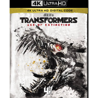 TRANSFORMERS 4: AGE OF EXTINCTION (4K UHD DIGITAL CODE) ITUNES INSTANT DELIVERY