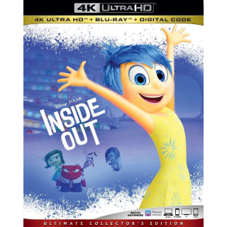 DISNEY PIXAR'S INSIDE OUT (4K UHD DIGITAL CODE) MOVIESANYWHERE INSTANT DELIVERY