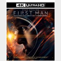 FIRST MAN (2018 RYAN GOSLING) (4K ULTRA HD UHD DIGITAL CODE) VUDU, MOVIESANYWHERE INSTANT DELIVERY