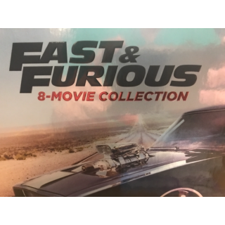 THE FAST AND THE FURIOUS 1-8 (FAST & FURIOUS 8 MOVIE COLLECTION) 4K UHD DIGITAL (VUDU, ITUNES, MOVIESANYWHERE)