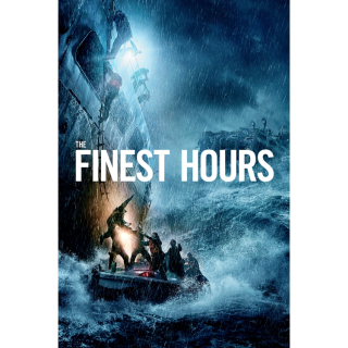 DISNEY THE FINEST HOURS (HD DIGITAL CODE) VUDU, ITUNES, MOVIESANYWHERE INSTANT DELIVERY