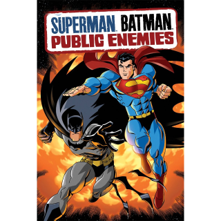 SUPERMAN BATMAN : PUBLIC ENEMIES (HD DIGITAL CODE) VUDU, MOVIESANYWHERE INSTANT DELIVERY