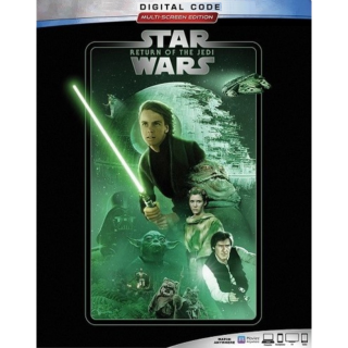 STAR WARS: RETURN OF THE JEDI EPISODE VI 6 (HD DIGITAL CODE) VUDU, ITUNES, MOVIESANYWHERE INSTANT DELIVERY 1