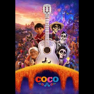 DISNEY PIXAR COCO (2017) HD DIGITAL MOVIE CODE (GOOGLE PLAY)