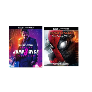 JOHN WICK 3 CHAPTER 3 PARABELLUM & SPIDER-MAN FAR FROM HOME (4K UHD DIGITAL CODE) VUDU IW INSTANT DELIVERY