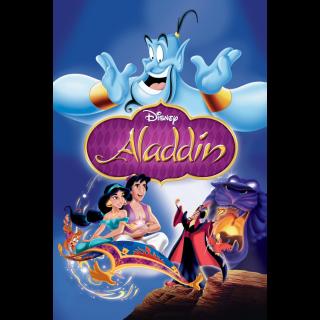 DISNEY ALADDIN (1992) (HD DIGITAL CODE) GOOGLE PLAY INSTANT DELIVERY