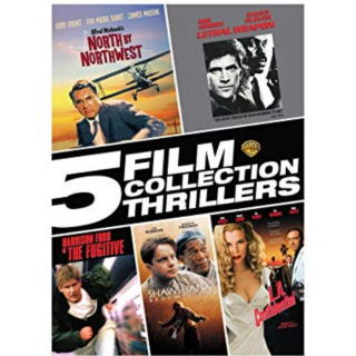 5 FILM COLLECTION THRILLERS FUGITIVE LETHAL WEAPON THE SHAWSHANK REDEMPTION (SD DIGITAL CODE) VUDU INSTANT DELIVERY