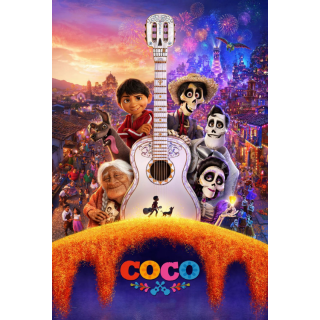 DISNEY PIXAR COCO (2017) (HD DIGITAL MOVIE CODE) (VUDU, ITUNES, MA INSTANT DELIVERY)
