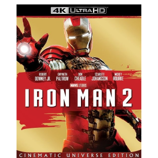 MARVEL STUDIOS IRON MAN 2 (4K UHD DIGITAL CODE) VUDU, MOVIESANYWHERE INSTANT DELIVERY