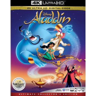 DISNEY ALADDIN (1992) (4K UHD DIGITAL CODE ) VUDU, MOVIESANYWHERE INSTANT DELIVERY