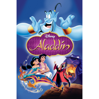 DISNEY ALADDIN (1993) (HD DIGITAL CODE) VUDU, ITUNES, MOVIESANYWHERE INSTANT DELIVERY
