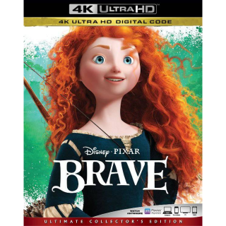DISNEY PIXAR BRAVE (2012) (4K UHD DIGITAL CODE) VUDU, MOVIESANYWHERE INSTANT DELIVERY