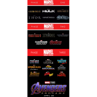 MARVEL CINEMATIC UNIVERSE MCU PHASE 1 2 3 COMPLETE COLLECTION (HD DIGITAL CODE)  VUDU MOVIESANYWHERE ITUNES AVENGERS ENDGAME