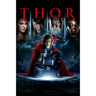 MARVEL STUDIOS THOR (2011) HD DIGITAL CODE (VUDU, ITUNES, MOVIESANYWHERE INSTANT DELIVERY)