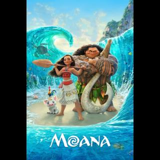 DISNEY MOANA (HD DIGITAL CODE) (VUDU, ITUNES, MOVIESANYWHERE + DMR)