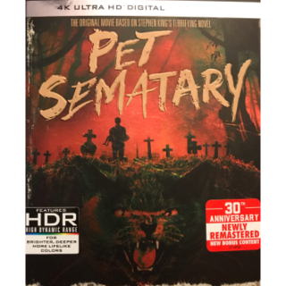 PET SEMATARY 1989 SEMETARY (4K UHD DIGITAL CODE) VUDU INSTANT DELIVERY