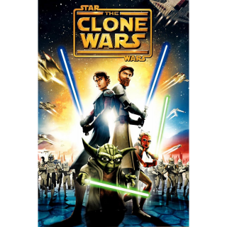 STAR WARS THE CLONE WARS MOVIE (2008) (SD DIGITAL CODE) ITUNES INSTANT DELIVERY (RARE OOP CODE)