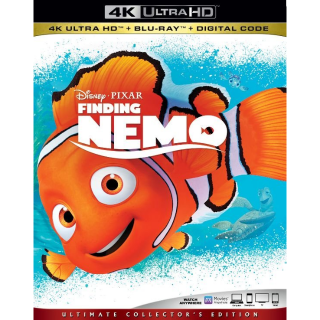 DISNEY PIXAR FINDING NEMO (4K UHD DIGITAL CODE) VUDU, MOVIESANYWHERE INSTANT DELIVERY
