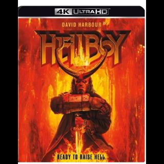 DAVID HARBOUR HELLBOY (2019) (4K ULTRA HD UHD DIGITAL CODE) VUDU, ITUNES, GOOGLE PLAY INSTANT DELIVERY