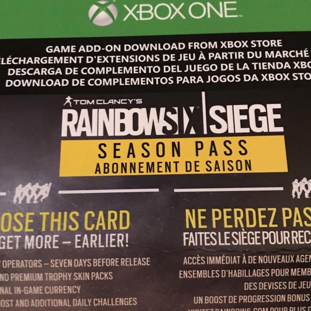 Rainbow Six Siege Year 1 Season Pass Dlc Only Code