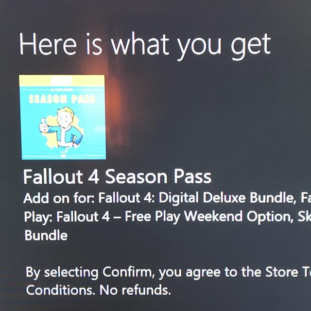 Fallout 4 Season Pass DLC Only Code (Xbox One) - XBox