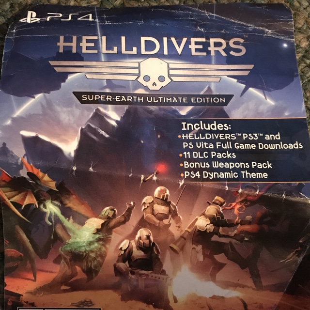 Helldivers Full Digital Download Code (PS3 & PS Vita) - PS3 Games