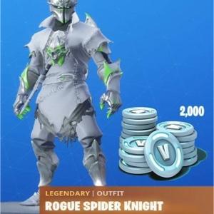 Fortnite Legendary Rogue Spider Knight Outfit Plus 2000 V Bucks (XB1)