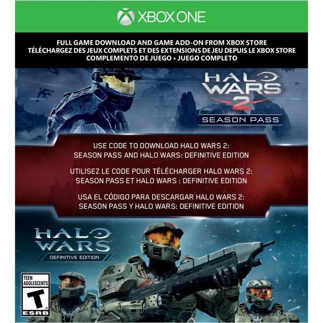 Halo Wars 2 Season Pass & Halo Wars Definitive edition Code